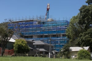 Construction site at Gosford.