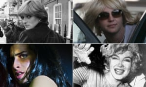 Pushed to the edge: (clockwise from top left) Diana Spencer; Britney Spears; Marilyn Monroe; and Amy Winehouse.