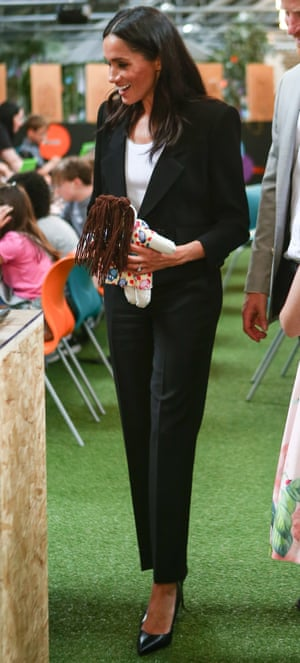 Duchess of Sussex in a Givenchy trousersuit