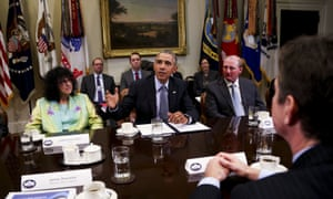 President Barack Obama Discusses Climate Change With Business Leaders
