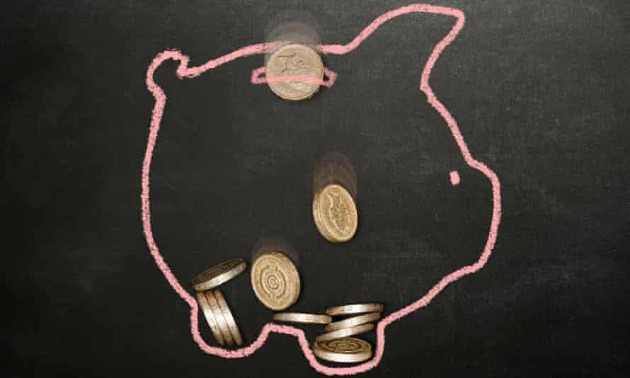 Chalk drawing of a piggy bank