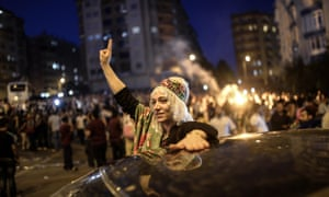 Supporters of Turkey's pro-Kurdish People's Democratic party, which passed the 10% threshold to enter parliament.