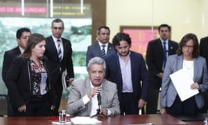 Ecuador's president Lenín Moreno confirms the deaths of the three journalists. He said: 'We're not going to let ourselves be intimidated.'