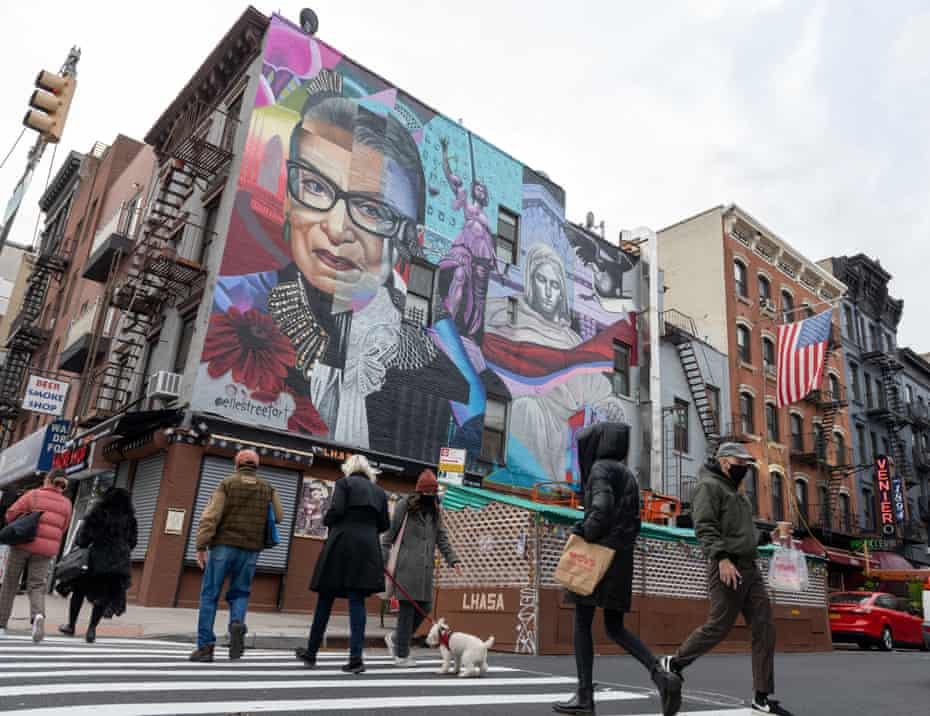 A mural in New York City.