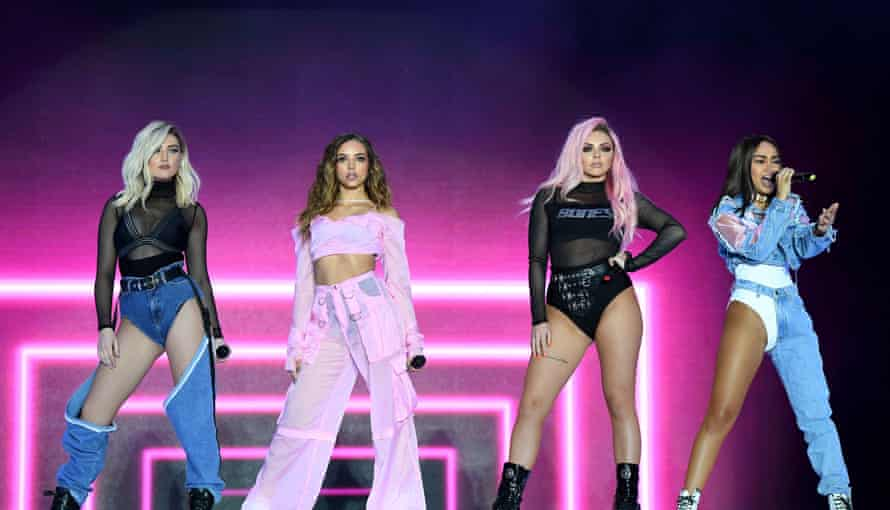 On stage with Little Mix in 2017.