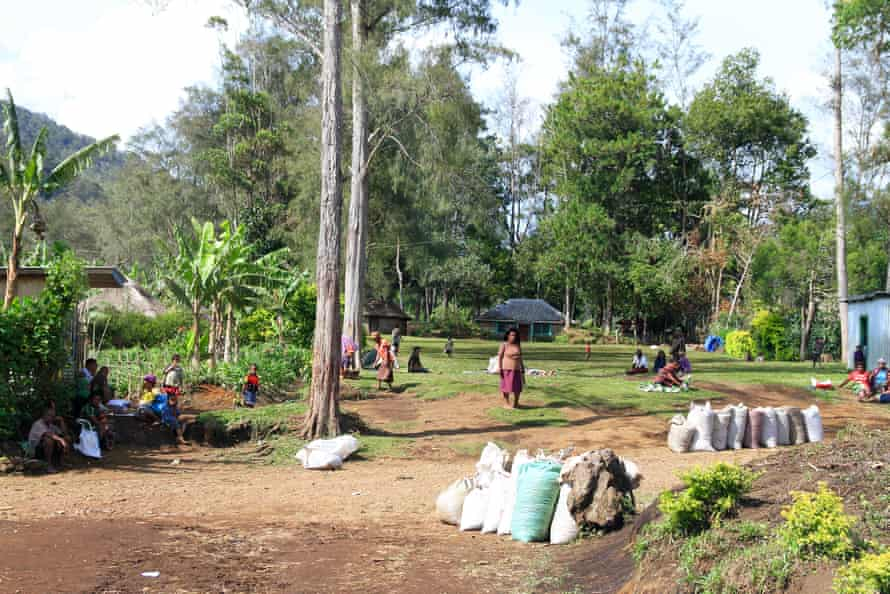 The remote highlands of Papua New Guinea, where belief in sanguma or sorcery is common.