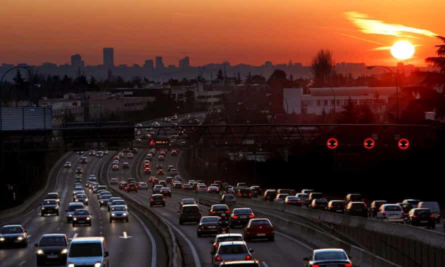 An urban motorway in Madrid