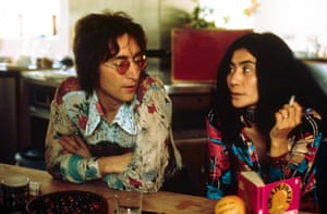 Turn over the tapes … John Lennon and Yoko Ono at their home in Berkshire in 1970.