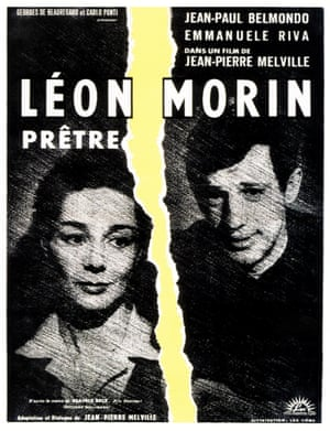 French poster art for Léon Morin, Priest, 1961