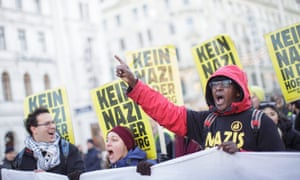 A rally against presidential candidate Norbert Hofer in Vienna