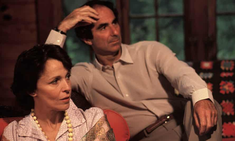 Philip Roth with then wife Claire Bloom in 1983.