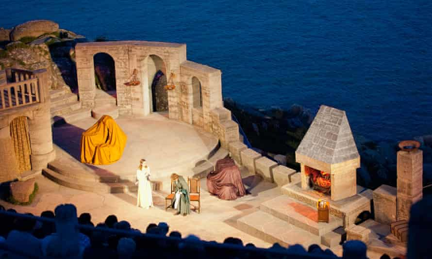 A production at the open-air Minack theatre, Cornwall.
