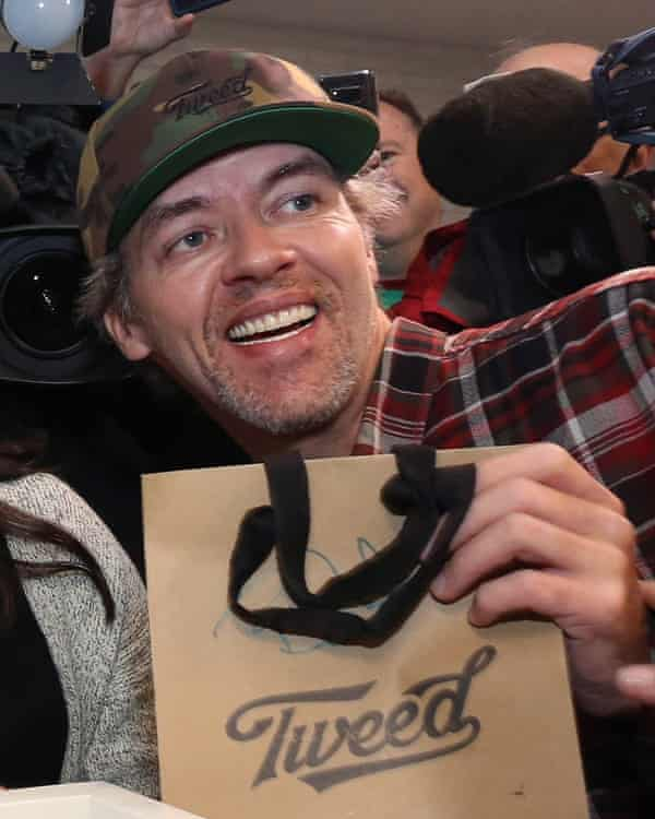 """""""It's one of the biggest moments of my life,"""" said Ian Power after buying the first legal cannabis for recreational use in Canada."""
