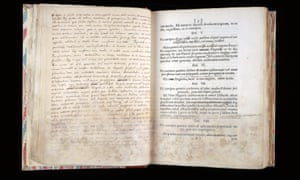 Sir Isaac Newton's own first edition of Principia Mathematica, with added text.