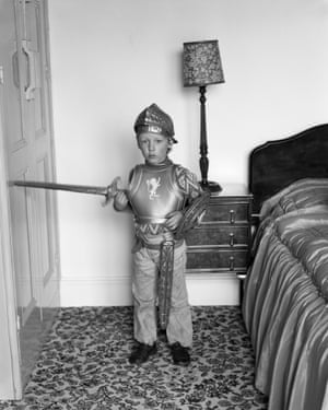 David in knight's armour, 1974. The Portraits by John Myers is published by RRB PhotoBooks this month. rrbphotobooks.com