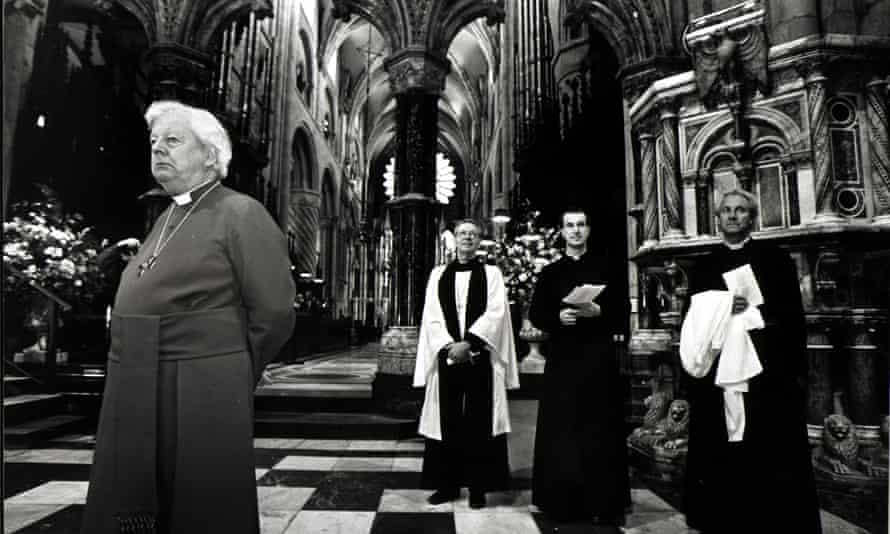 David Jenkins in his time as bishop of Durham - undated file pic
