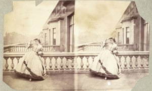 Isabella Grace on the terrace of 5 Princes Gardens by Clementina Hawarden (1861-62)