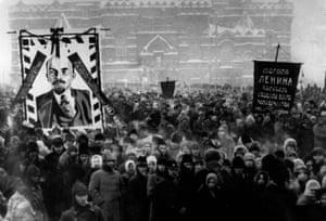 Lenin's funeral in Moscow in 1924.