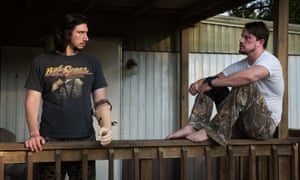 Adam Driver and Channing Tatum in Logan Lucky.