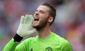David de Gea playing for Manchester United