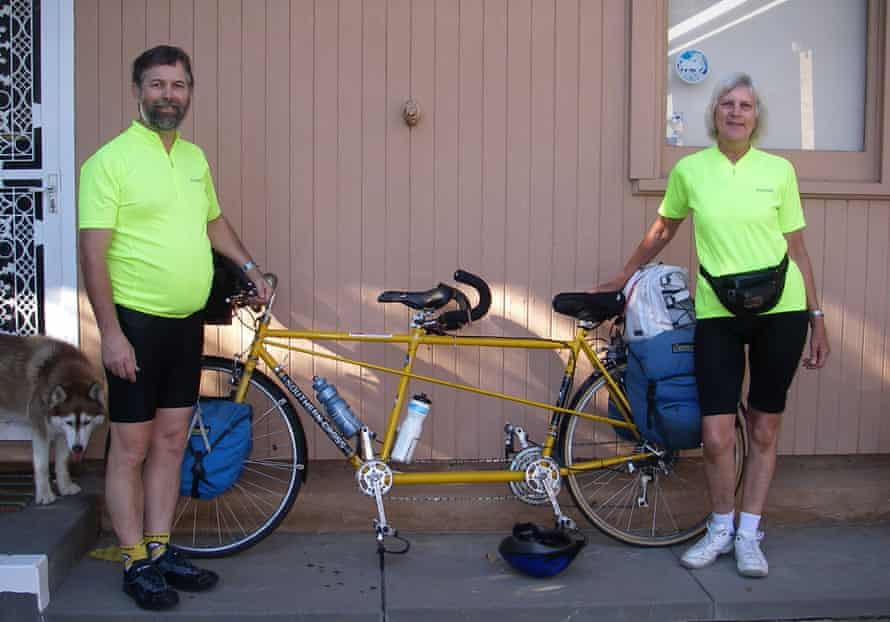 The couple in 2011 with the tandem bike