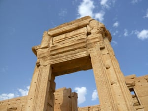 A view shows the Temple of Bel in the historical city of Palmyra, Syria, August 4, 2010.