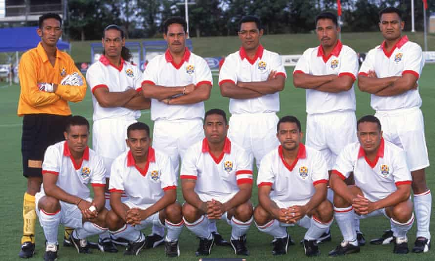 The Tongan team in 2001, fresh from their 1-0 win over Samoa, are pictured before facing Australia in New South Wales. They would go on to lose 22-0.