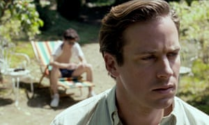 Timothée Chalamet and Armie Hammer in the film of André Aciman's Call Me By Your Name.