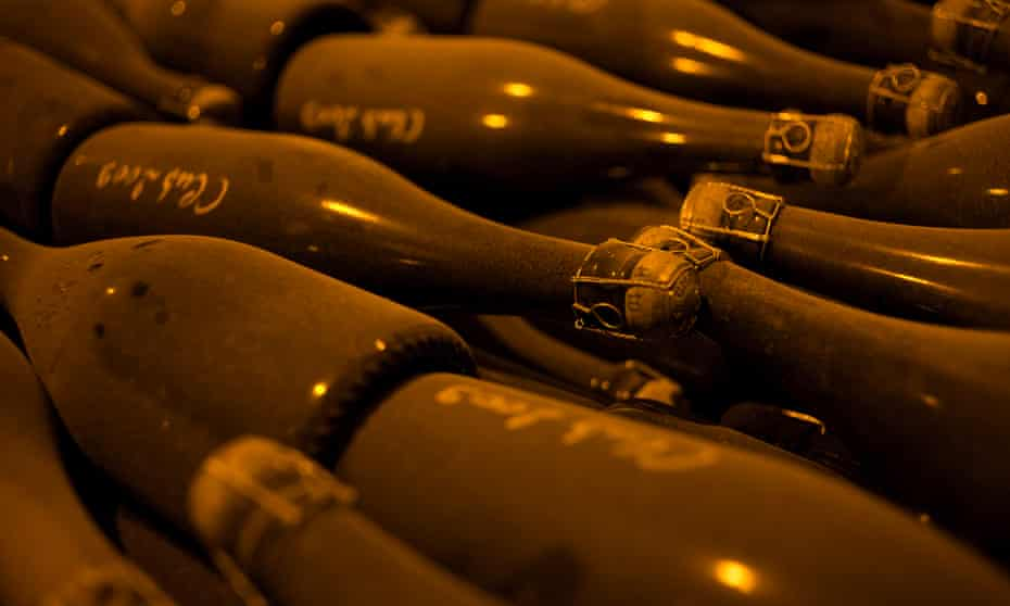 Champagne from the Vazard-Coquart & Fils Vineyard in Chouilly, France, is made using sustainable production methods.