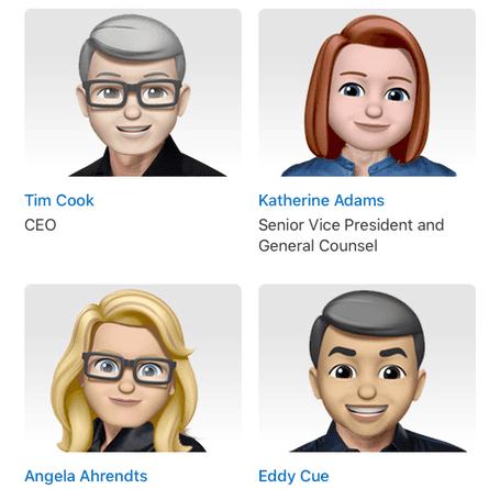 Apple's executive leadership on World Emoji Day
