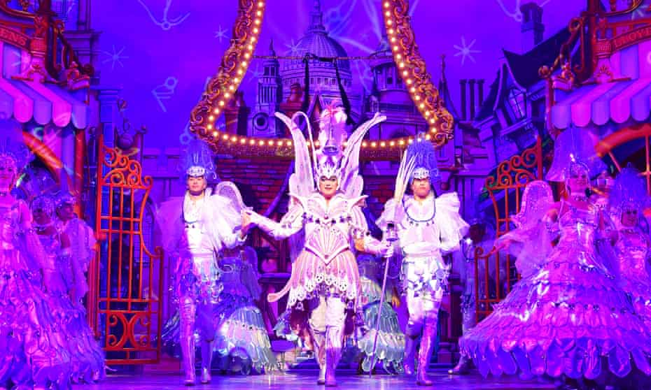 Cue the UK-wide sequin shortage … Julian Clary as the Spirit of the Bells in Dick Whittington.