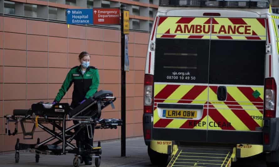 Outside the Royal London hospital on Tuesday.