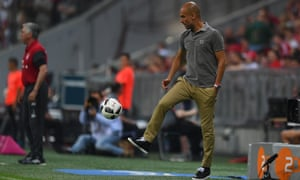 Pep Guardiola saw his Manchester City team lose 1-0 in a friendly away to Bayern Munich on Wednesday night.