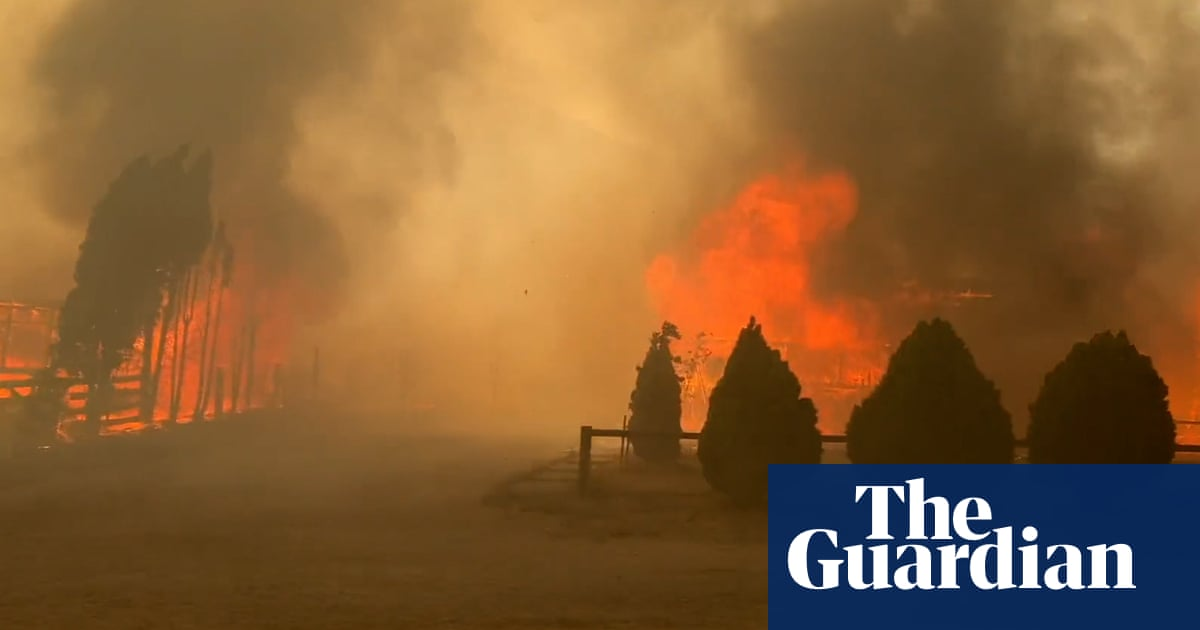Canada heatwave: resident films escape from wildfire as flames engulf Lytton village –video