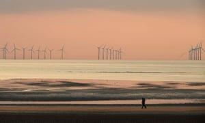 The Burbo Bank wind farm, New Brighton.