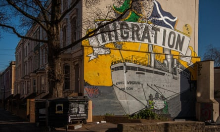 A Bristol mural celebrating the arrival of migrants from the West Indies on the Windrush.