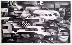 """Traffic Control,"" 1936. Lithograph."
