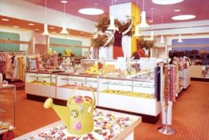 A riot of colour in the Joseph Magnin shop in Fox Plaza, San Francisco, 1966.