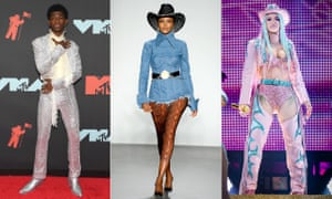 Lil Nas X channels Little Richard and Prince at the MTV awards, a catwalk cowgirl at this month's New York Fashion Week and Cardi B performs at RodeoHouston.