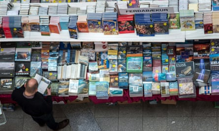 a book fair at Perl exhibition building in Reykjavik, Iceland.