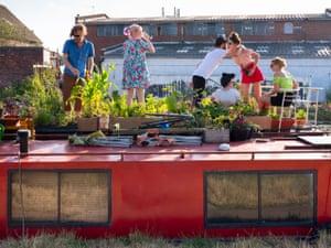 A houseboat in Hackney Wick, London