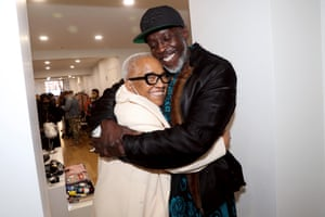 Williams with Cassandra Goins visiting The Men's Room Pop Up Shop in New York City in January 2021