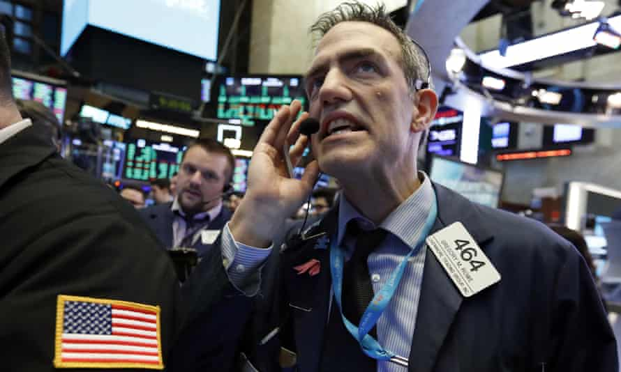 Tension on the floor of the New York Stock Exchange on New Year's Eve.