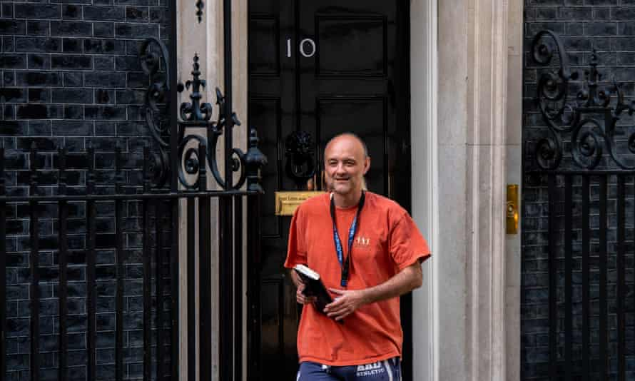 Dominic Cummings, special adviser to the prime minister, leaves 10 Downing Street.