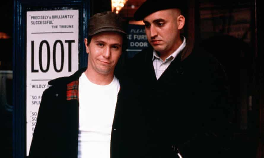 Gary Oldman as Joe Orton (left) and Alfred Molina as Kenneth Halliwell in the 1987 film version of Prick Up Your Ears.