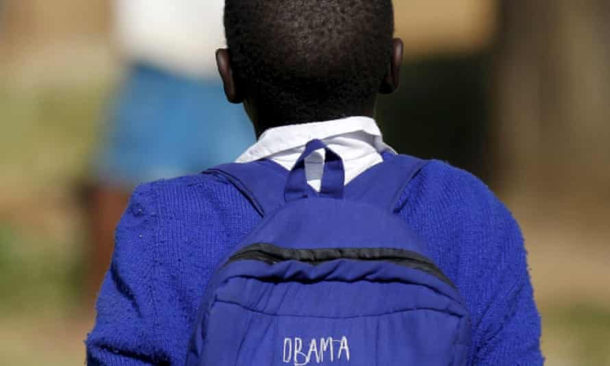 Seven-year-old Barack Obama, named after former US president, walks to primary school in Kogelo, west of Kenya's capital Nairobi. Kenya scored 16th in the rankings of the ACPF report
