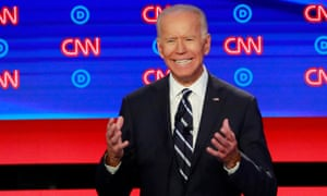 Former Vice President Joe Biden speaks on the second night of the second U.S. 2020 presidential Democratic candidates debate in Detroit, Michigan, U.S.<br>Former Vice President Joe Biden speaks on the second night of the second 2020 Democratic U.S. presidential debate in Detroit, Michigan, July 31, 2019. REUTERS/Lucas Jackson