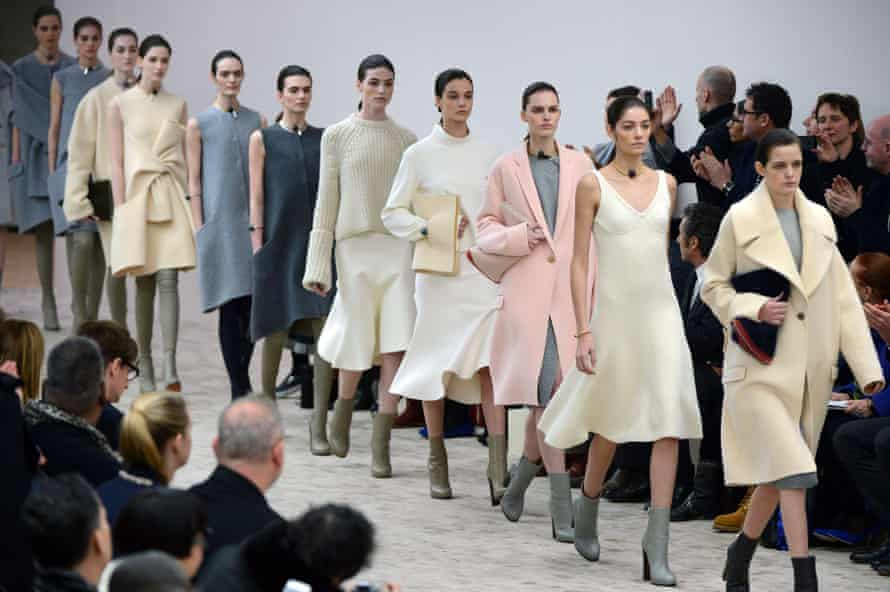 Philo's hyperminimalism on display in her AW13/14 collection for Céline.