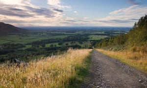 Looking down the Ingleby Incline track in the North York Moors