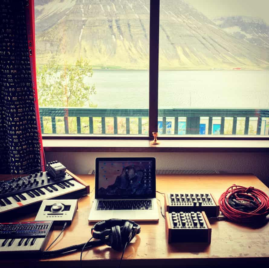 Heather Shannon's view from her workspace during her residency in Iceland